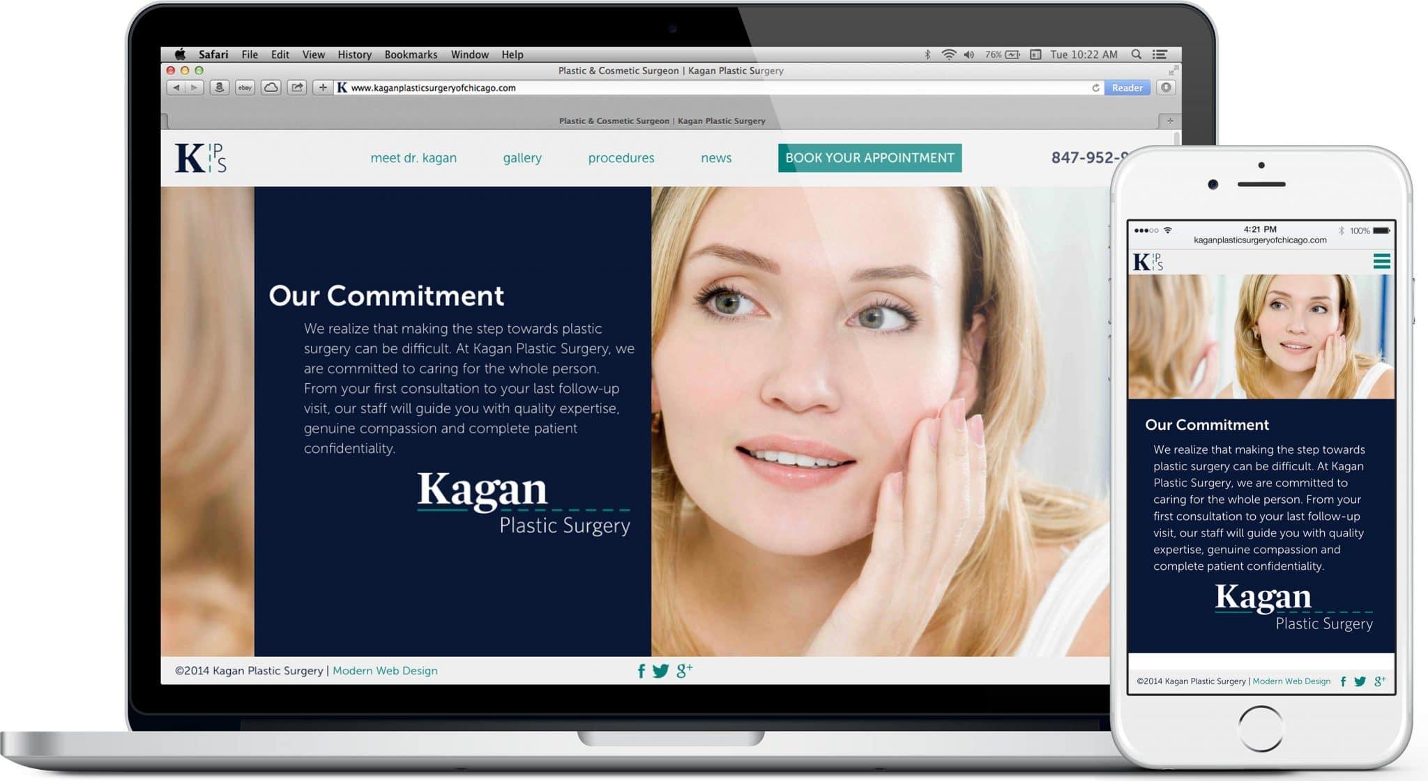 plastic surgey website design chicago