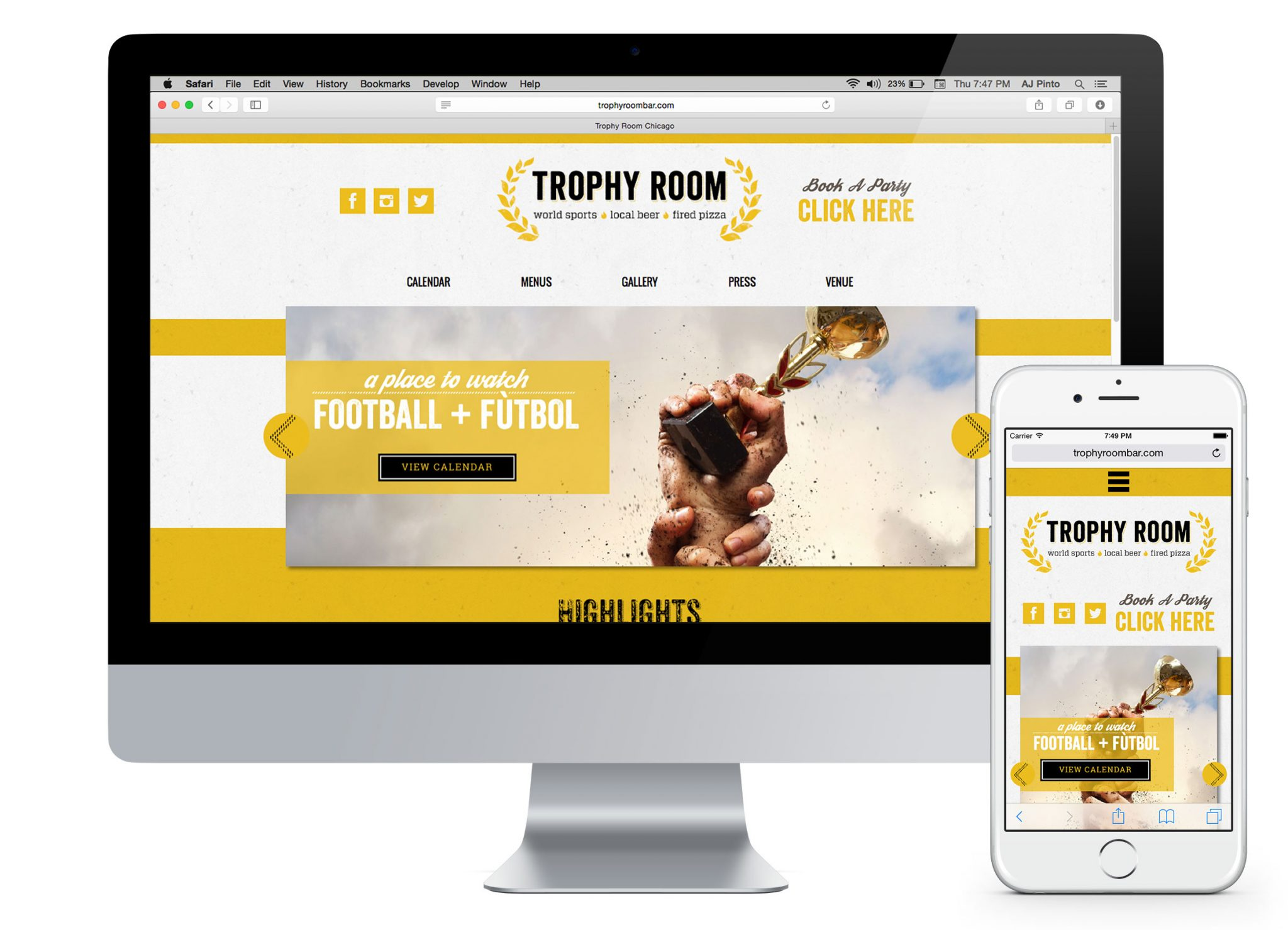 chicago restaurant web design