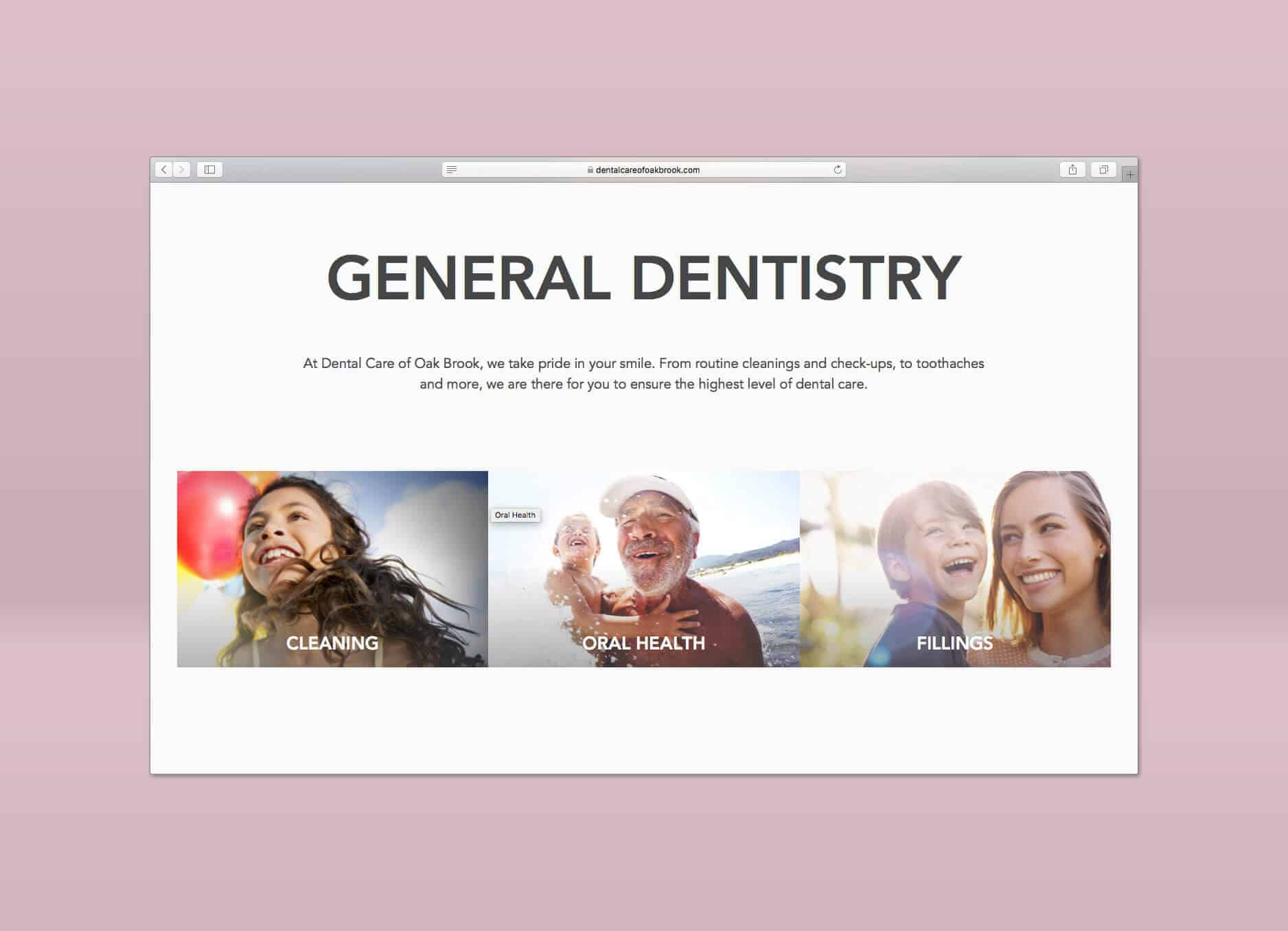 dental care of oakbrook homepage