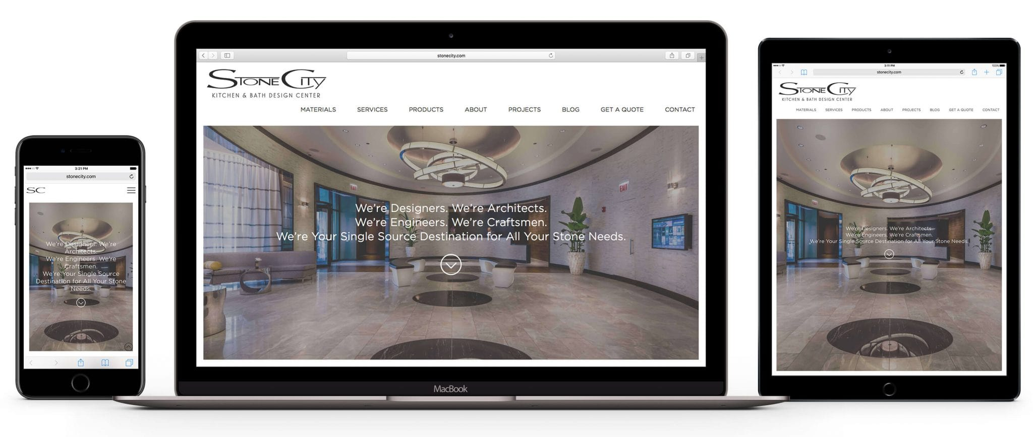 responsive web design for stone supplier