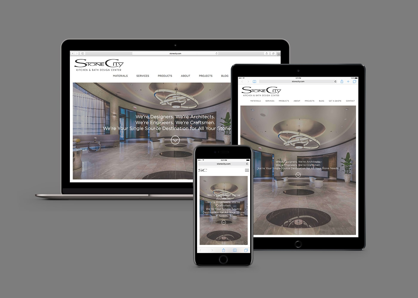 stone city commercial web design