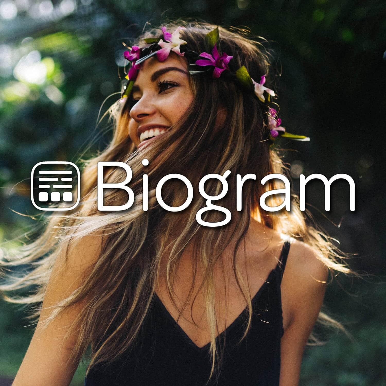 instagram landing page biogram