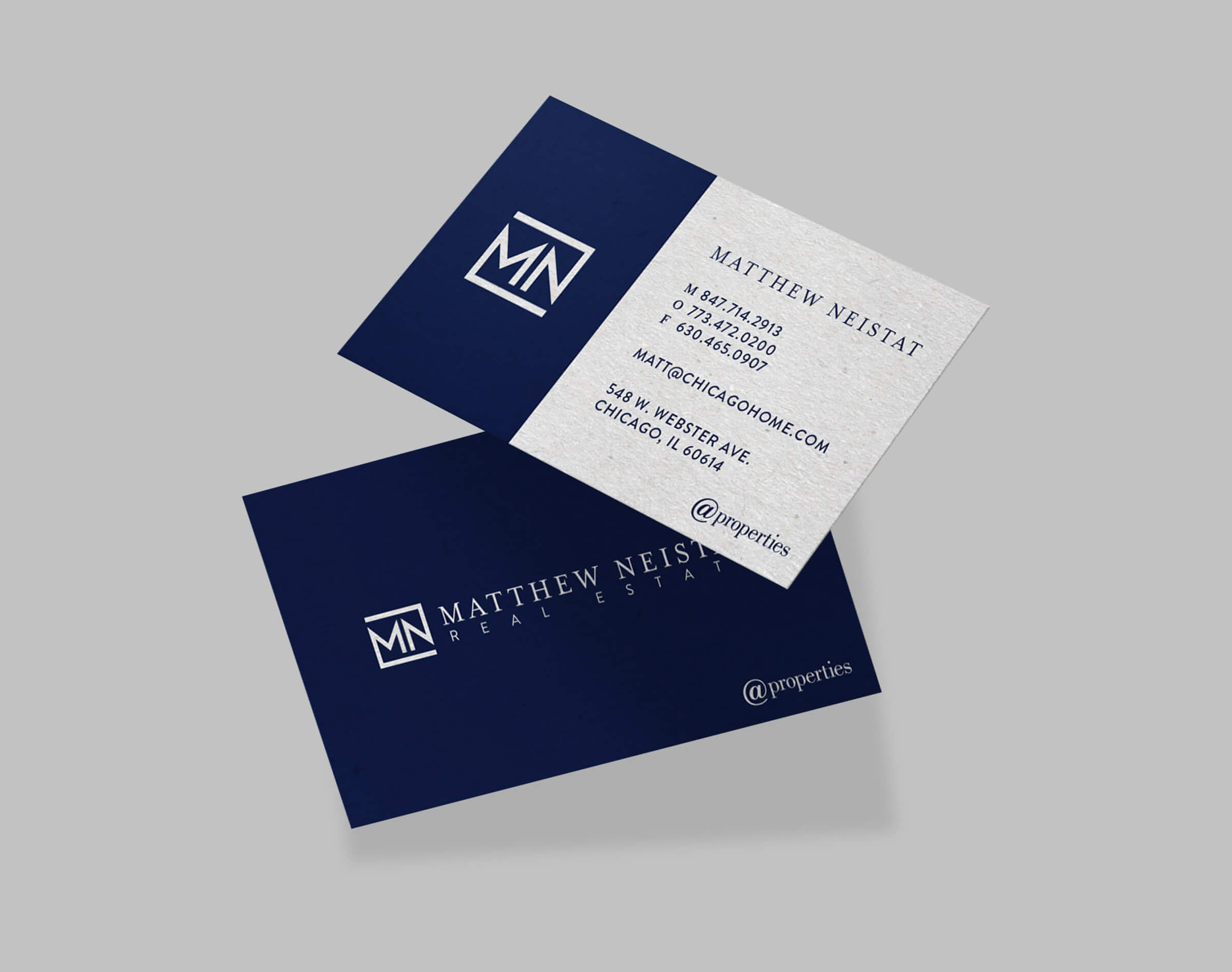 realty business card design chicago