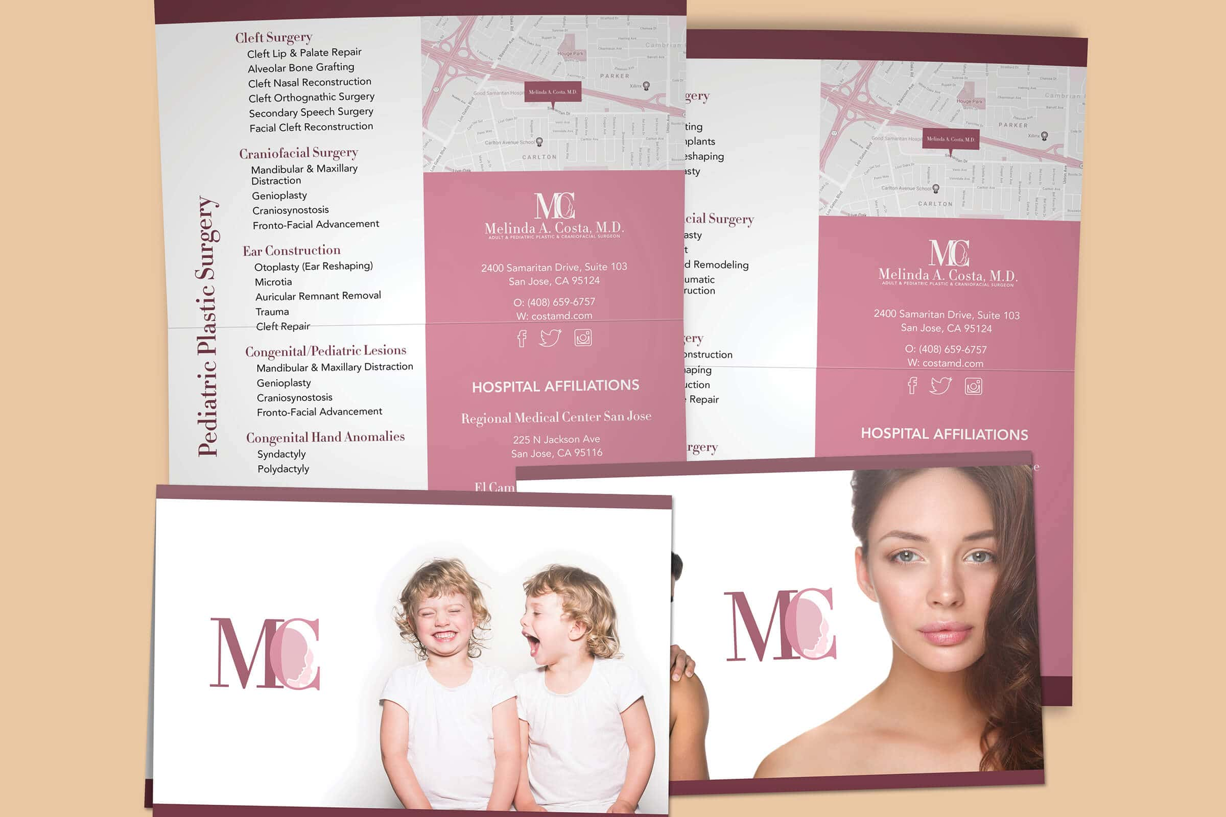 plastic surgeon brochure design