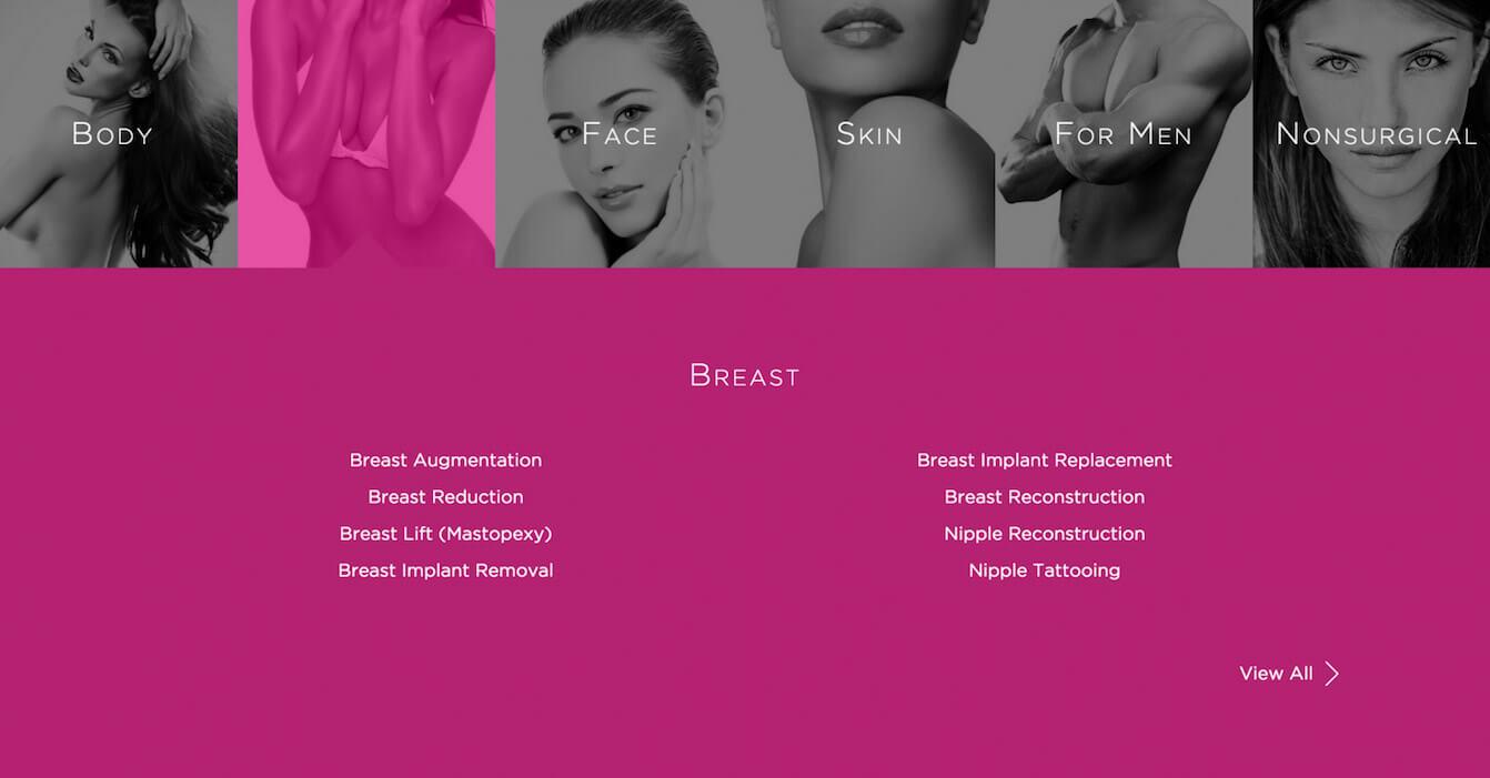 plastic surgery website design chicago