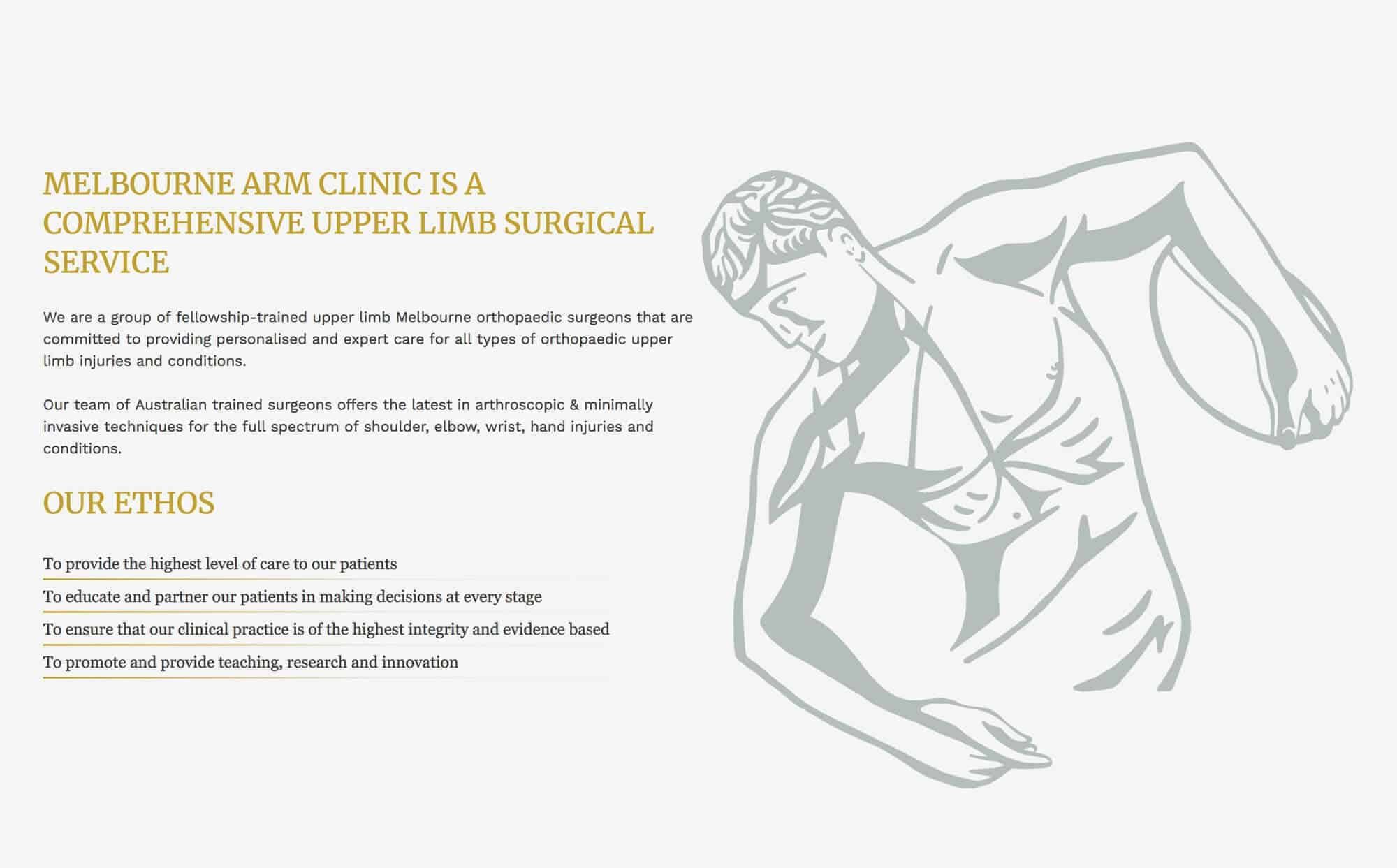 melbourne arm clinic homepage