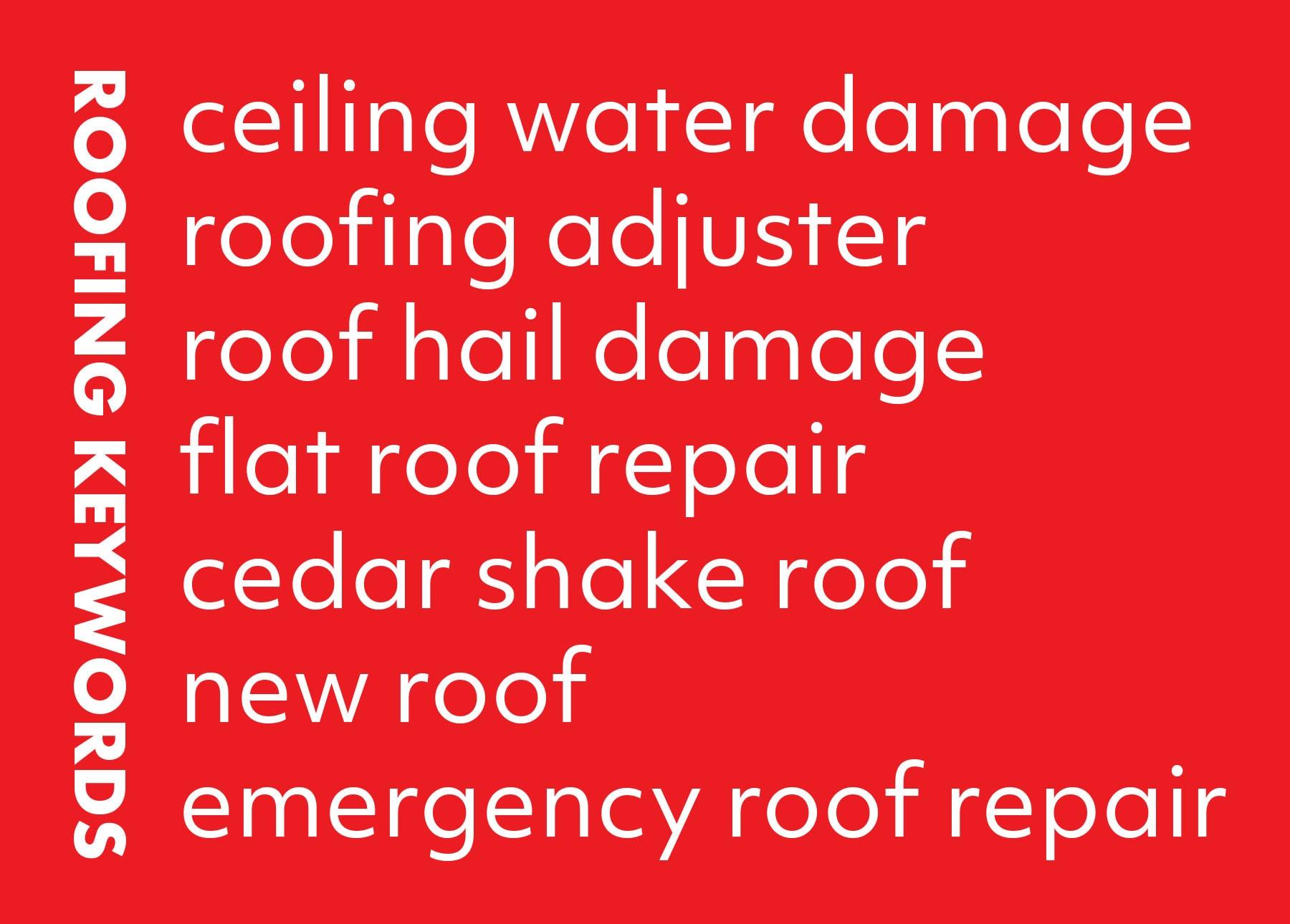 roofing SEO keywords